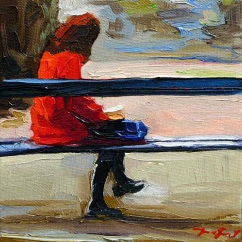 """Im  Park"" original fine art by Jurij Frey"