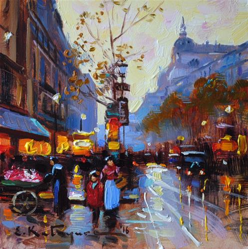 """Morning Walk"" original fine art by Elena Katsyura"