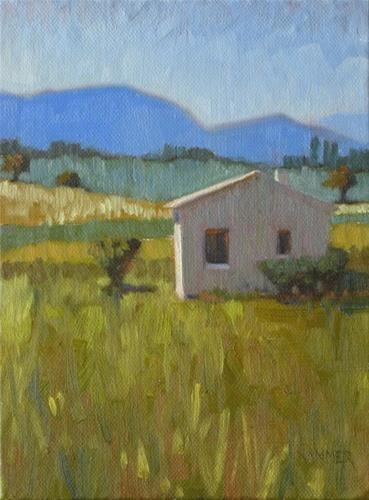 """""""Cottage in Provence 6x8 oil"""" original fine art by Claudia Hammer"""