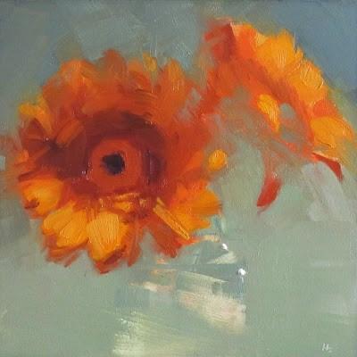 """""""39c GERBERAS"""" original fine art by Helen Cooper"""