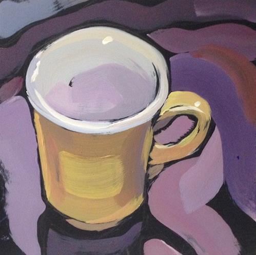 """Yellow Brushstroke Study"" original fine art by Kat Corrigan"