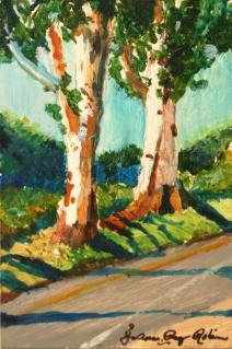"""Hecker Pass Hwy"" original fine art by JoAnne Perez Robinson"