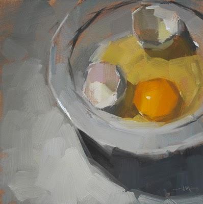 """Sad Egg"" original fine art by Carol Marine"