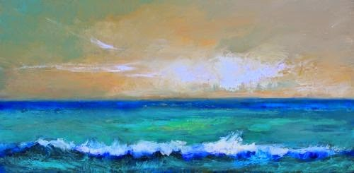 """Glorious Morning, Beach and Ocean Paintings by Arizona Artist Amy Whitehouse"" original fine art by Amy Whitehouse"