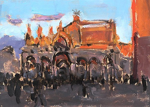 """St Mark's, Venice"" original fine art by Kevin Inman"