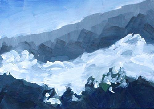 """Misty Mountain"" original fine art by J. Farnsworth"