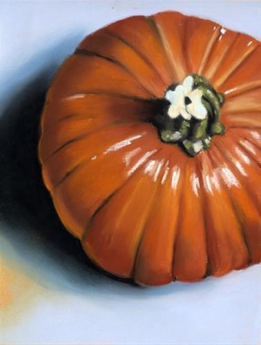 """pumpkin painting giveaway"" original fine art by Ria Hills"