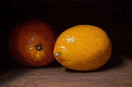 """Meyer Lemons (the light, the shade)"" original fine art by Abbey Ryan"