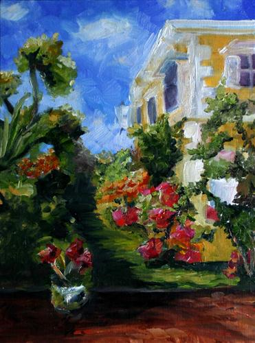 """Barbados garden"" original fine art by Kristen Dukat"