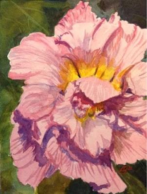"""Day 17 - Confederate Rose"" original fine art by Lyn Gill"