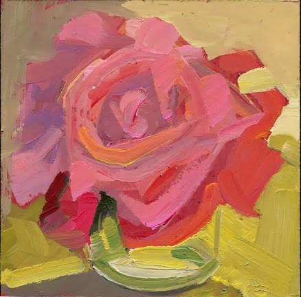 """""""1609 Two Flowers, One Jar"""" original fine art by Lisa Daria"""