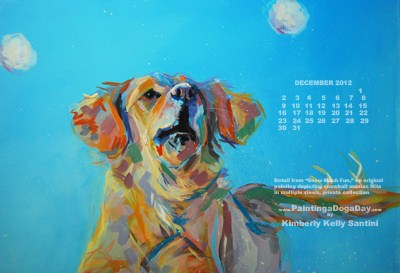 """December Desktop Calendar"" original fine art by Kimberly Santini"