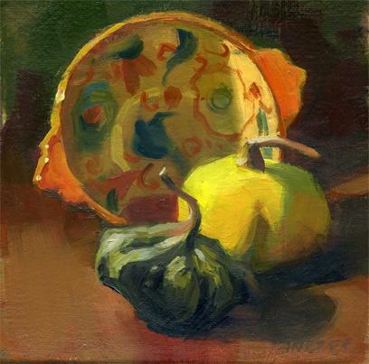 """Good Gourd!"" original fine art by Kathy Weber"