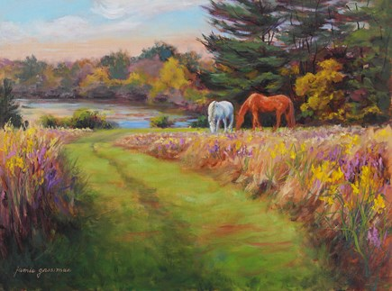 """Old Friends"" original fine art by Jamie Williams Grossman"