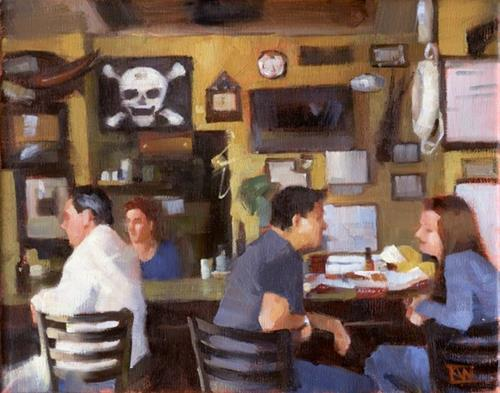 """""""Paintings of Fort Lauderdale II"""" original fine art by Kathy Weber"""