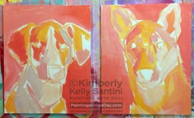 """The Girls, In Process"" original fine art by Kimberly Santini"