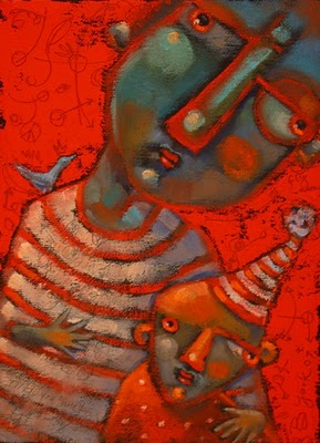 """Marvin And Teensy"" original fine art by Brenda York"