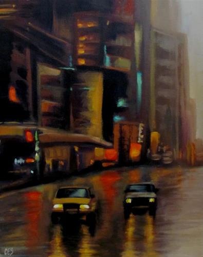 """""""City Lights"""" original fine art by ~ces~ Christine E. S. Code"""