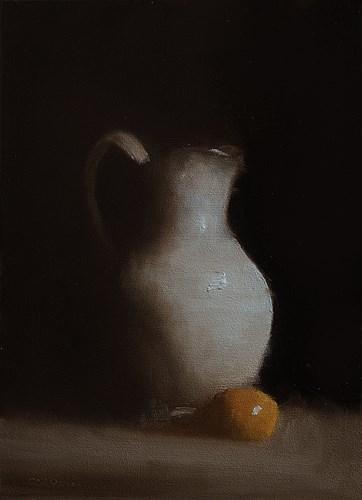 """""""White Vase"""" original fine art by Neil Carroll"""