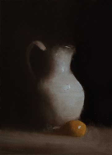 """White Vase"" original fine art by Neil Carroll"