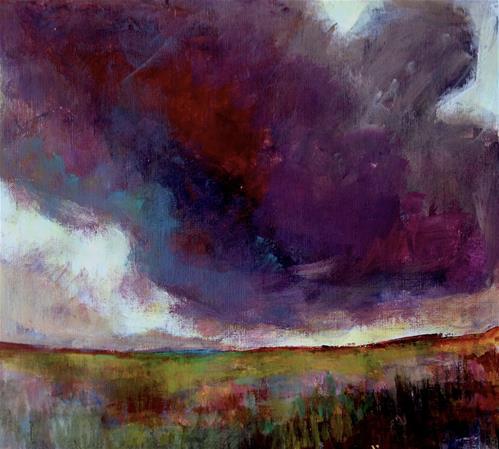 """Stormy Sky St. Sat"" original fine art by Patricia MacDonald"