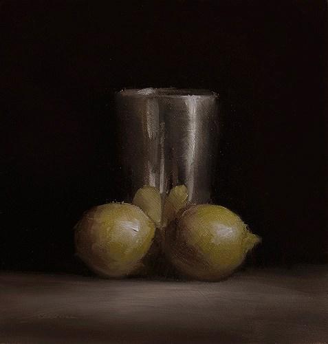 """Cup with Lemons"" original fine art by Neil Carroll"