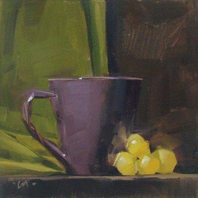 """Purple & Green"" original fine art by Carol Marine"