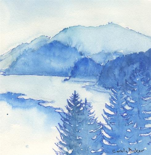 """View from Jubilee Cabin"" original fine art by Carole Baker"