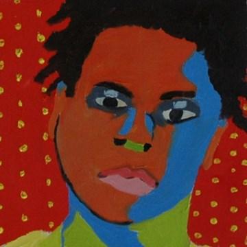 """JOE No. 5"" original fine art by Linda Popple"