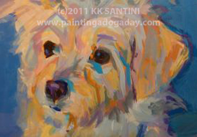 """Penny Peach, Detail"" original fine art by Kimberly Santini"