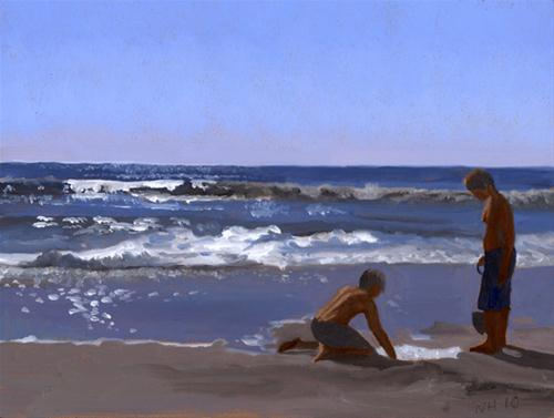 """DIGGING"" original fine art by Nancy Herman"