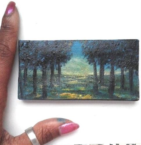 """Trees"" original fine art by Camille Morgan"
