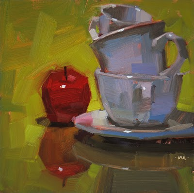 """Leaning Stack"" original fine art by Carol Marine"
