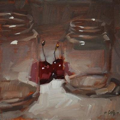 """Be Discreet"" original fine art by Carol Marine"