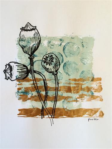 """Poppy Print"" original fine art by Teddi Parker"