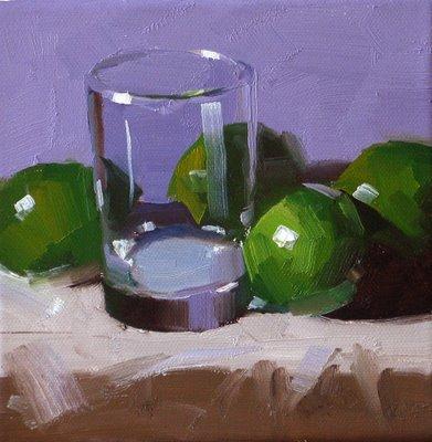"""""""Go Green"""" original fine art by Qiang Huang"""