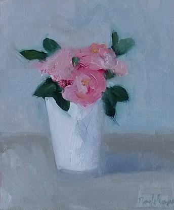 """Pink Scent"" original fine art by Pamela Munger"