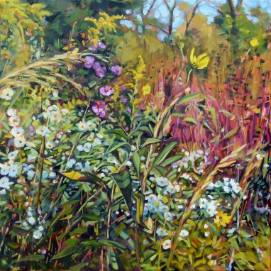 """Oil Painting: Asters"" original fine art by Deb Anderson"