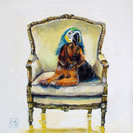 """parrot head"" original fine art by Kimberly Applegate"
