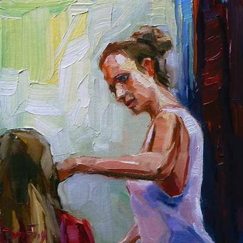 """friseurin"" original fine art by Jurij Frey"