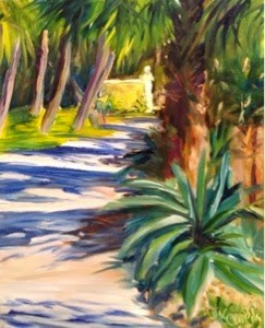 """Sunny Pathways"" original fine art by Debra Kennedy"