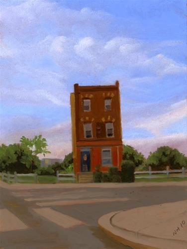"""STAND ALONE HOUSE"" original fine art by Nancy Herman"