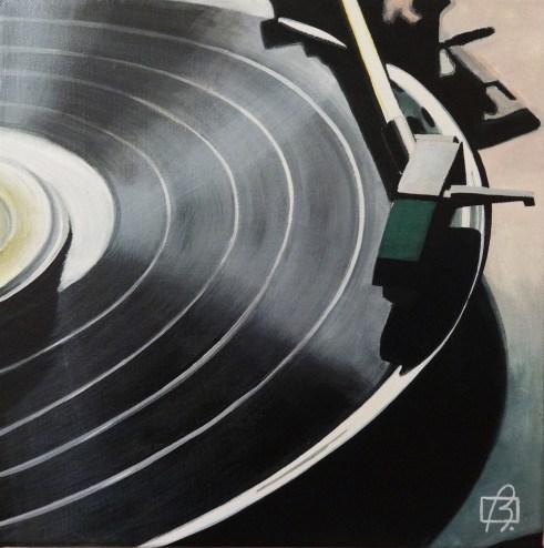 """Platine vinyle III"" original fine art by Andre Beaulieu"