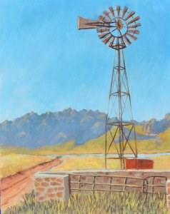 """The Old Windmill"" original fine art by Robert Frankis"