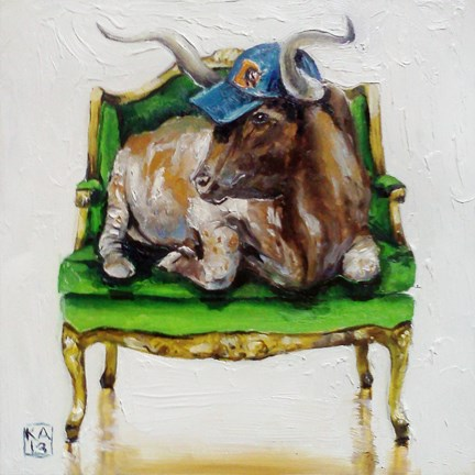 """bull durham"" original fine art by Kimberly Applegate"