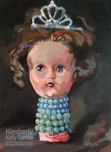 """New Year's Queen"" original fine art by Kimberly Santini"