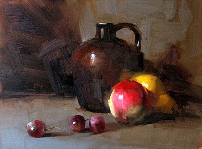 """Fruit Array Sold"" original fine art by Qiang Huang"