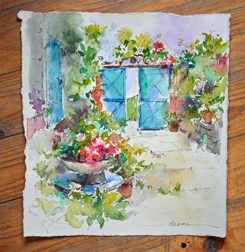 """""""A Taste of Watercolor in France"""" original fine art by Dreama Tolle Perry"""