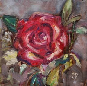 """Full Bloom"" original fine art by Carol DeMumbrum"
