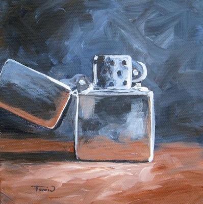 """Zippo Lighter"" original fine art by Torrie Smiley"
